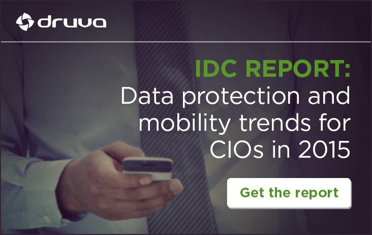 IDC Report: Data Protection and Mobility Trends for CIOS in 2015 - Get the Report